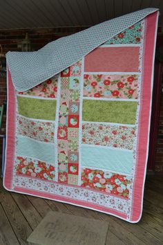 Handmade Quilt Cottage Chic Shabby Look by TrueloveQuiltsForYou