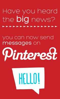 You can now send messages on Pinterest!!! envizionadvertising.com