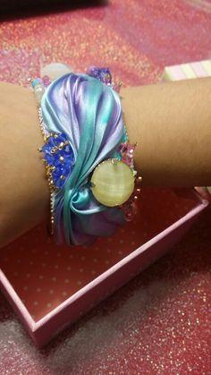 Shibori ribbon  bracciale marea ...Mama ' bijoux