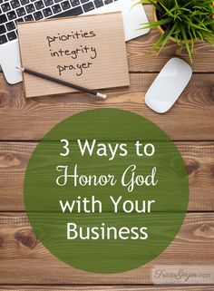 Tips on how to honor God with your business; even if you don't own or run a business, these are great tips if you have a 9–5 job. Don't miss an exciting music giveaway at the bottom of this post, either!