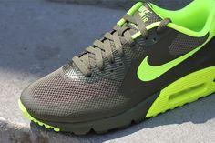 Nike Air Max 90 Hyperfuse - Cargo Khaki / Volt