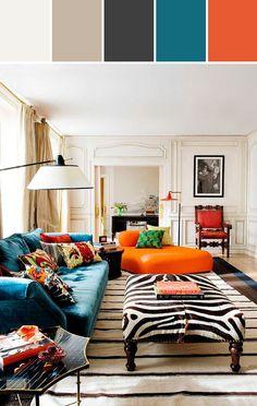 Orange & Blue Designed By alexstone via Stylyze