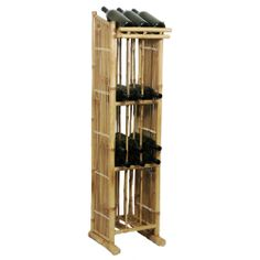 This bamboo wine rack will bring a tropical touch to your kitchen.