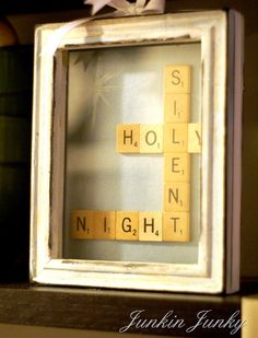 silent night holy night scrabble craft