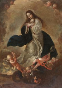 The Immaculate Conception / La Inmaculada Concepción // Second half of the XVII century // Anonymous // #VirginMary