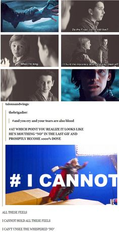 Loki...I'm done, I can't take this!