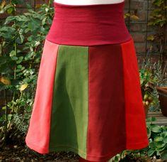 OktoberZinnober  Bahnenrock  Baumwolle Gr. M von Mariba-Mode auf DaWanda.com