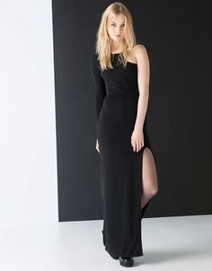 Bershka United Kingdom - Bershka XMAS asymmetric dress