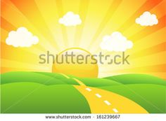 Vector farm sunrise Free vector for free download about (3) Free ...