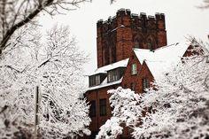 Winter at UWM.