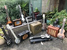 Vintage Rickenbacher lap steels guitars and amps