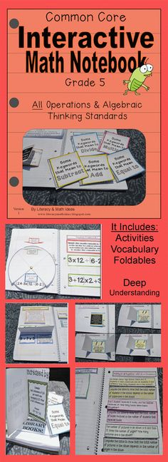 Literacy & Math Ideas: Grade 5 Common Core Operations and Algebraic Thinking Interactive Notebook