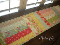 A Quilting Life - a quilt blog: Simple Table Runner--A Tutorial