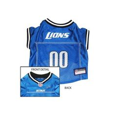 Pets First Detroit Lions NFL Dog Jersey - Extra Small