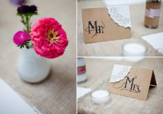great DIY reception details by @Anastasia Merriken & @Jeremy Merriken