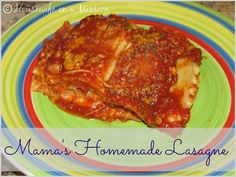 Mama's Homemade Lasagne!! One of the best traditional lasagne recipes ever!!