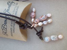 A personal favourite from my Etsy shop https://www.etsy.com/uk/listing/250131699/leather-lariat-jasper-ynecklace-pearl