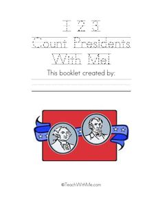 Classroom Freebies: 123 Count Presidents With Me Easy Reader Math Booklet