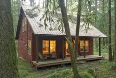 Glacier Springs Cabin 12 - With a covered porch...sweet!