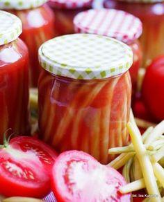 Słoiki. Na zimę. Fasolka szparagowa w pomidorach | Smaczna Pyza Vegetables, Food, Canning, Essen, Vegetable Recipes, Meals, Yemek, Veggies, Eten