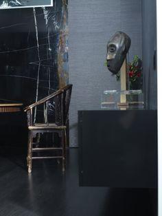Swan Residence • Noir St Laurent Marble  #noir #stlaurent #marble #iconstonetile #inspiration #creation #design #space #decor  #home #yyc