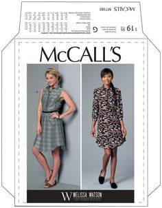 MCCALL'S 7380 ELASTIC BACK SHIRT DRESS