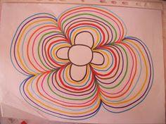 Pour les petits  avant la récré  un même atelier pour les 2 groupes  compétence: à la façon de klimt (lundi)  consigne: peindre feuille tout...
