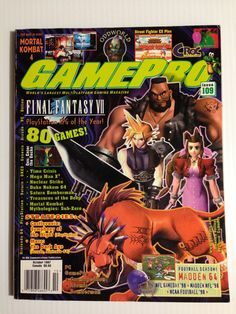 Gamepro October 1997 Gaming Magazines, Video Game Magazines, Street Fighter Ex, Retro Video Games, Retro Games, My Magazine, All Games, Mega Man, I Am Game