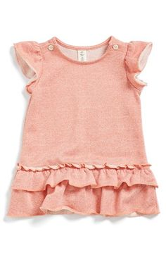 Tucker + Tate Ruffle Terry Dress & Bloomers (Baby Girls) available at #Nordstrom