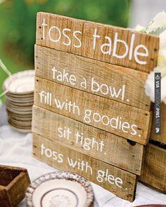 Toss Table via Martha Stewart Weddings // Photography: Kate Headley   CHECK OUT MORE IDEAS AT WEDDINGPINS.NET   #weddings #uniqueweddingideas #unique