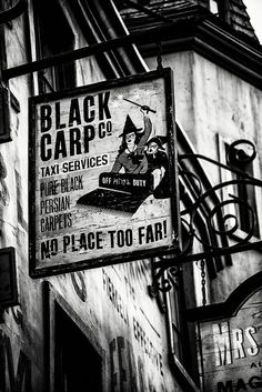 Black Carp Co. Taxi Services | Diagon Alley - The Wizarding World of Harry Potter Diagon Alley - Universal Studios Florida - Orlando, FL