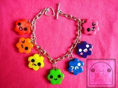 Rainbow Candy Cuties Bracelet Polymer Clay by bubucraftie on Etsy, $15.00