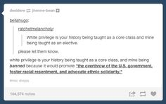 On education: | The 33 Realest Tumblr Posts About Being A Person Of Color