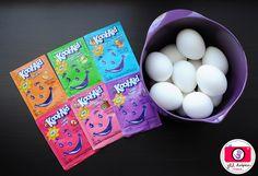 using kool aid to dye eggs