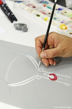 Van Cleef  Arpels. Ballerina necklace sketch...♡