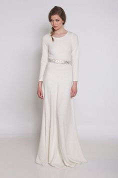Winter Wedding Dresses That Are as Cozy as Your Favorite Sweater -- I'll Be There Wedding Dress by Ivy & Aster.