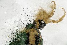 Loki splatter art.