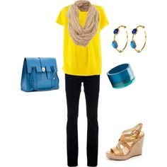 I love the yellow and blue