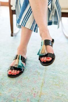 #püsküllü #sandalet #kendinyap #diy #terlik #yapımı