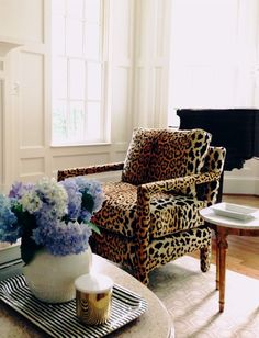 leopard chair // living room //