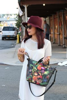 Featuring a colorful and chic midnight floral, carry these styles with you all season.  Photo Credit: My Fashion Juice