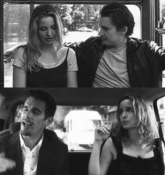 Before Sunrise vs Before Sunset  Source: http://www.filmlerdeoyleolur.com/post/130466483835/before-sunset-gif