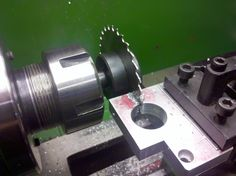 Sometimes it is easier and faster to do the slotting using the larger lathe. Avoid machine tool chatter by using coarse tooth cutters for everything except thin tubing and metal sheet.