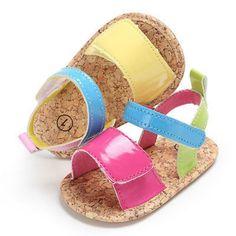 87c7f553283 Newborn Baby Girls Infant Summer Sandal Clogs Anti-slip Soft Sole Plat  Princess Shoes Infantil Anti-Slip Prewalker Mocassins