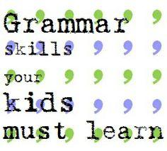 Grammar skills your child must learn