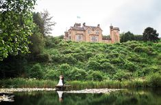Scottish Castle Wedding Venue | Auchen Castle is a truely lovely Scottish Castle in Dumfries & Galloway. It even has its own stunning loch at the bottom.