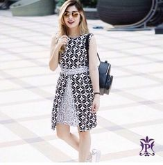 Ideas Sewing Patterns Tops Blouses Fabrics For 2019 Lovely Dresses, Trendy Dresses, Simple Dresses, Blouse Batik Modern, Dress Batik Kombinasi, Model Dress Batik, Kebaya Modern Dress, Batik Fashion, Dress Fashion