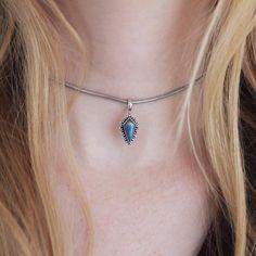 ♕ Catacomb Labradorite Choker ♕ shopdixi.com ♕ dixi // jewellery // jewelry // boho // bohemian // grunge // goth // dark // mystic // magic // witchy // sterling silver // rings // labradorite //