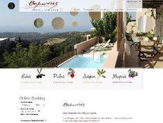 Θημωνιές Villas  Δραστηριότητα:  Συγκρότημα τεσσάρων τουριστικών καταλυμάτων - βιλλών  Τύπος έργου: Κατασκευή δυναμικής ιστοσελίδας, online booking, SEM & SEO, Social Media.