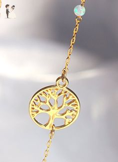 Tree of Life Pendant Necklace - Tree of life Necklace ,14k Gold Filled and Opal Jewelry, Family Gifts - Wedding nacklaces (*Amazon Partner-Link)